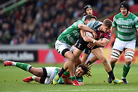 James Lang of Harlequins takes on the Newcastle Falcons defence. Premiership Rugby Cup match, between Harlequins and Newcastle Falcons on November 4, 2018 at the Twickenham Stoop in London, England. Photo by: Patrick Khachfe / JMP