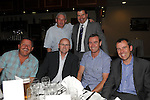 Robbie Horgan pictured with former Drogheda United players John Gill, Charlie O'Reilly, Declan Geoghan, Dave Kelly and Gerry Scully at his Testomonial dinner in the Boyne Valley hotel. Photo: Colin Bell/pressphotos.ie