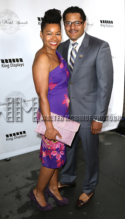 Crystal A. Dickinson, Brandon J. Dirden attending the 69th Annual Theatre World Awards at the Music Box Theatre in New York City on June 03, 2013.