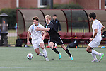 SALEM, VA - DECEMBER 3:Tyler Kulcsar (16) of Tufts University and Trent Vegter (6) of Calvin College battle for the ball during theDivision III Men's Soccer Championship held at Kerr Stadium on December 3, 2016 in Salem, Virginia. Tufts defeated Calvin 1-0 for the national title. (Photo by Kelsey Grant/NCAA Photos)