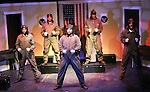 Ananias Dixon - Layon Gray - Melvin Huffnagle - Thom Scott II - Lawrence Saint-Victor - David Roberts star in Black Angels Over Tuskegee on January 24, 2011 at the Actors Temple Theatre, New York City, New York. (Photo by Sue Coflin/Max Photos)