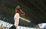 Ichiro Suzuki (Marlins),<br /> APRIL 8, 2015 - MLB :<br /> Ichiro Suzuki of the Miami Marlins during practice before the Major League Baseball game against the Atlanta Braves at Marlins Park in Miami, Florida, United States. (Photo by AFLO)
