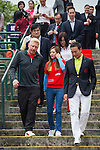 Tennis legend Boris Becker (left) and Mission Hills Vice Chairman Tenniel Chu (right) arrive at the Press conference for the opening of Boris Becker Tennis Academy at Mission Hills Resort on 19 March 2016, in Shenzhen, China. Photo by Lucas Schifres / Power Sport Images