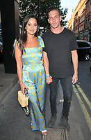 Roxie Nafousi and Wade Briggs at the HENI Gallery x Adidas &quot;Prouder&quot; project private view &amp; party, HENI Gallery, Lexington Street, London, England, UK, on Tuesday 03 July 2018.<br /> CAP/CAN<br /> &copy;CAN/Capital Pictures