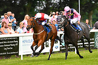 Winner of The Molson Coors Handicap (Class 6) Glamorous Dream  left ridden by David Probert and trained by Ronald Harris  during Afternoon Racing at Salisbury Racecourse on 12th June 2018