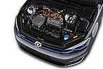 Car Stock 2017 Volkswagen Golf e 5 Door Hatchback Engine  high angle detail view