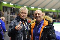 SCHAATSEN: HEERENVEEN: IJsstadion Thialf, 28-12-2015, KPN NK Afstanden, Harm van der Pal en Hilbert van der Duim, ©foto Martin de Jong