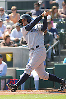 Wilmington Blue Rocks outfielder Nick Francis #7 at bat against the Myrtle Beach Pelicans at BB&T Coastal Field in Myrtle Beach, South Carolina on April 10, 2011.   Photo By Robert Gurganus/Four Seam Images