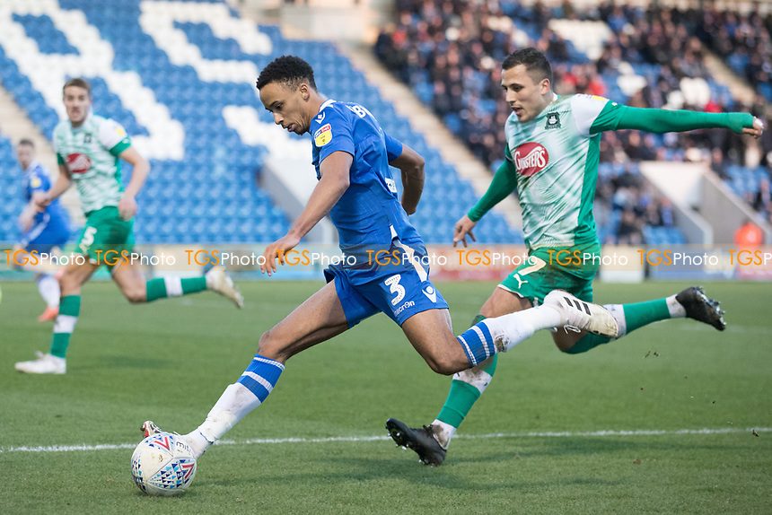 Cohen Bramall of Colchester United prepares to cross during Colchester United vs Plymouth Argyle, Sky Bet EFL League 2 Football at the JobServe Community Stadium on 8th February 2020