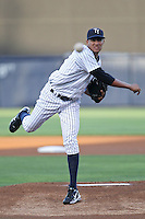 April 8, 2010: Pitcher Hector Noesi of the Tampa Yankees delivers a pitch during a game at George M Steinbrenner Field in Tampa, FL. Tampa is the Florida State League affiliate of the New York Yankees. Photo By Mark LoMoglio/Four Seam Images
