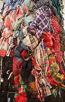 A bale of used clothing and fabric is seen in New York on Thursday, March 29, 2012. (© Richard B. Levine)