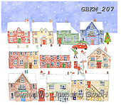 Kate, CHRISTMAS LANDSCAPES, WEIHNACHTEN WINTERLANDSCHAFTEN, NAVIDAD PAISAJES DE INVIERNO, paintings+++++Christmas page 76,GBKM207,#XL#