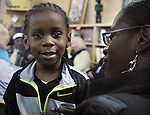 Aiden Blue, age 3, seen at the Naming Ceremony Event, at the A.J. Williams-Myers African Roots Community Center, at 43 Gill Street, in Kingston, NY, on Saturday, February 18, 2017. Photo by Jim Peppler; Copyright Jim Peppler 2017