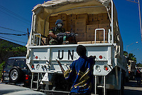 Carrefour, Haiti, Jan 18 2010.The U N World Food Programme is gearing up food distribution, today the objective is to reach 95 000 benefieciaries; it is estimated that more than 2 millions need emergency food help for the next 6 months.