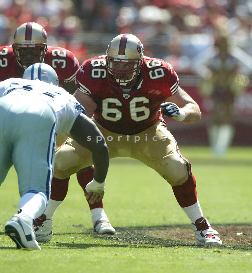 Eric Heitman, of the San Francisco 49ers, during the 49ers game against the Dallas Cowboys on September 25, 2005..Cowboys win 34-31..Rob Holt / SportPics