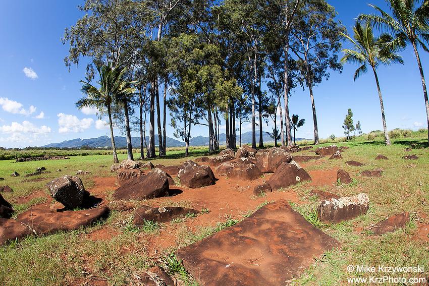 Kukaniloko Birthstones, Wahiawa, Oahu, Hawaii
