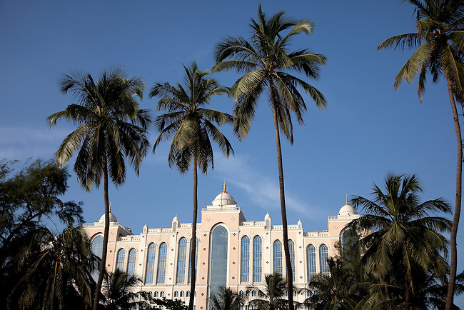 MUMBAI, INDIA - SEPTEMBER 27, 2010: The Saifee Hospital on the shorefront of Marine Parade in Mumbai resembles something from Malibu in the USA. The  Taj Mahal Palace and Tower Hotel in Mumbai has re-opened after the terror attacks of 2008 destroyed much of the heritage wing. The wing has been renovated and the hotel is once again the shining jewel of Mumbai. pic Graham Crouch