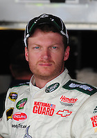 May 31, 2008; Dover, DE, USA; Nascar Sprint Cup Series driver Dale Earnhardt Jr during practice for the Best Buy 400 at the Dover International Speedway. Mandatory Credit: Mark J. Rebilas-
