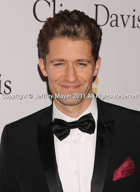 BEVERLY HILLS, CA - FEBRUARY 12: Matthew Morrison arrives at the 2011 Pre-GRAMMY Gala and Salute To Industry Icons Honoring David Geffen at The Beverly Hilton Hotel on February 12, 2011 in Beverly Hills, California.
