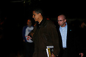 Chicago, IL - November 22, 2008 -- United States President-Elect Barack Obama leaves the home the home of friend Penny Pritzker after he and his wife Michelle had dinner there Saturday evening, November 22, 2008..Credit: Anne Ryan - Pool via CNP