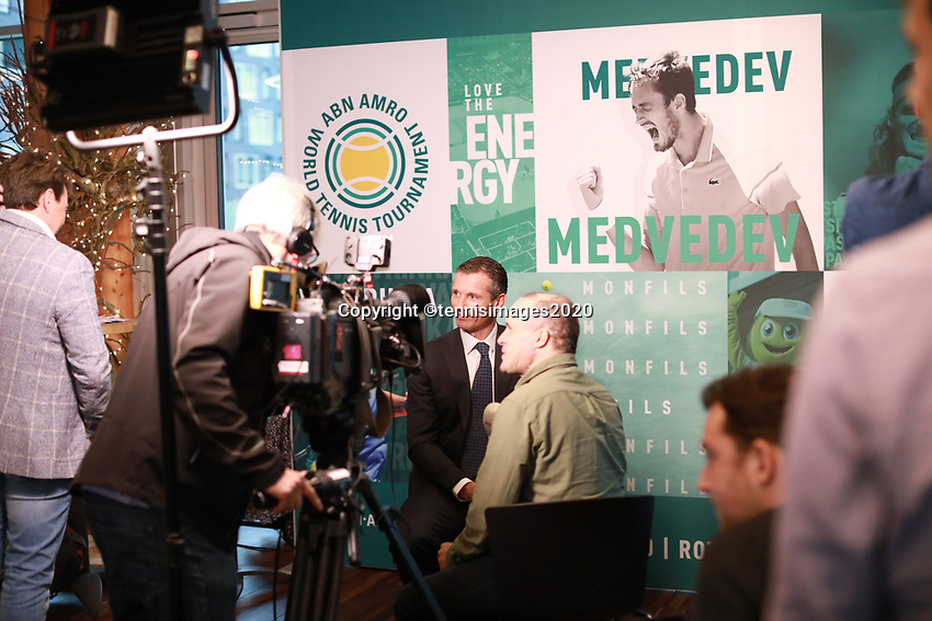 Amsterdam, The Netherlands, 7 Februari 2020, ABNAMRO World Tennis Tournament, Pressconference<br /> Photo: www.tennisimages.com