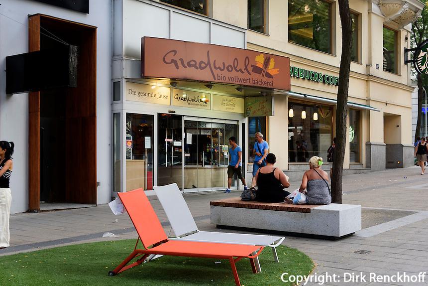 Einkaufsstra&szlig;e  Mariahilfer Stra&szlig;e, Wien, &Ouml;sterreich<br /> shoppingstreet Mariahilfer Str., Vienna, Austria