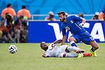 Alvaro Pereira (URU), Andrea Barzagli (ITA), JUNE 24, 2014 - Football / Soccer : FIFA World Cup Brazil 2014 Group D match between Italy 0-1 Uruguay at Estadio das Dunas in Natal, Brazil. (Photo by Maurizio Borsari/AFLO)