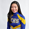 Mary Claire Troy of Kellenberg poses for a portrait during Newsday's All-Long Island cheerleading photo shoot at company headquarters in Melville on Friday, March 23, 2018.