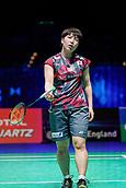 17th March 2018, Arena Birmingham, Birmingham, England; Yonex All England Open Badminton Championships; Akane Yamaguchi (JPN) in her semi-final match against Pusarla V Singhu (IND)