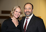 "Rebecca Luker and Danny Burstein attends the ""My Fair Lady"" Re-Opening Celebration at the Vivian Beaumont Theatre on January 27, 2019 in New York City."