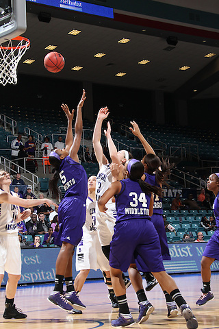 Frisco, TX - MARCH 13:  Game 2 of the women's Southland Conference Basketball Tournament playoff's Central Arkansas v Stephen F. Austin at Leonard E. Merrell Center on March 13, 2013 in Katy, Texas. (©2013 Rick Yeatts)