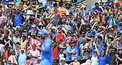 June 18th 2017, The Kia Oval, London, England;  ICC Champions Trophy Cricket Final; India versus Pakistan; fans appluaud as Kedar Jadhav of India catches Shoaib Malik of Pakistan