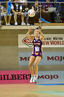 Verity Simmons in action during the ANZ Championship - Mojo Pulse v Queensland Firebirds at Te Rauparaha Arena, Porirua, New Zealand on Sunday 8 March 2015. <br /> Photo by Masanori Udagawa. <br /> www.photowellington.photoshelter.com.
