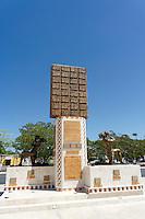 Interpretive sculpture at the Gran Museo del Mundo Maya museum in Merida, Yucatan, Mexico
