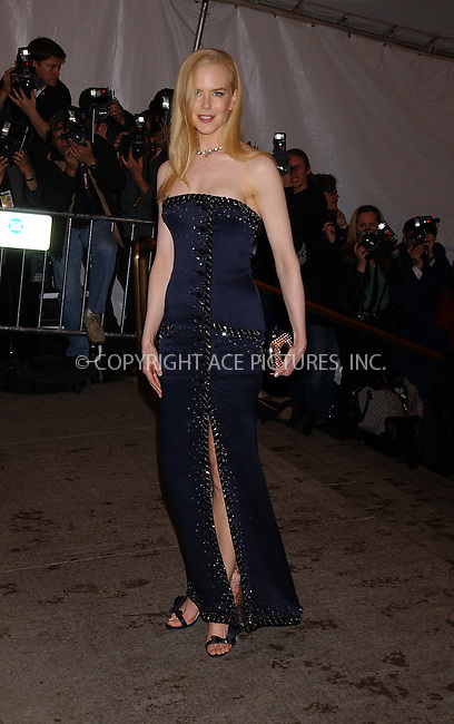 Nicole Kidman at the The Costume Institute Gala Celebrating Chanel, at the Metropolitan Museum of Art. New York City, May 2 2005.....Please byline: KRISTIN CALLAHAN - Ace Pictures....*PAY-PER-USE*....IMPORTANT: Please note that our old trade name New York Photo Press has changed to ACE Pictures. New York Photo Press and ACE Pictures are both owned by All Celebrity Entertainment, Inc.....Ace Pictures, Inc...e-mail: info@acepixs.com..tel: 212 243 8787