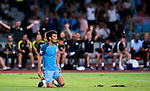 SHENZHEN - JULY 28: Manchester City midfielder David Silva (c) reacts during the match between Borussia Dortmund vs Manchester City FC at the 2016 International Champions Cup China match at the Shenzhen Stadium on 28 July 2016 in Shenzhen, China. (Photo by Power Sport Images/Getty Images)