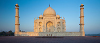 The Taj Mahal mausoleum eastern view (viewed from Taj Mahal Mosque), Uttar Pradesh, India