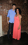 Nick Lewis and Lise Fisher (a part of the cast) pose at Empire The Series cast & crew get together to see the newest episode on August 28, 2012 at Smithfields in Chelsea, New York City, New York.  (Photo by Sue Coflin/Max Photos)