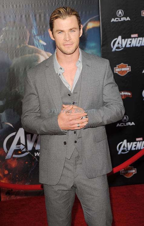Chris Hemsworth at the premiere of Marvel's The Avengers, held at El Capitan Theatre in Hollywood,  CA. April 11, 2012
