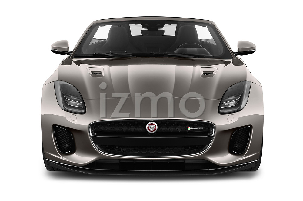 Car photography straight front view of a 2018 Jaguar F-Type R Dynamic 2 Door Convertible