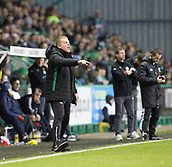 4th November 2017, Easter Road, Edinburgh, Scotland; Scottish Premiership football, Hibernian versus Dundee; Hibernian boss Neil Lennon