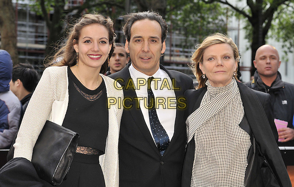 LONDON, ENGLAND - MAY 11: guests &amp; Alexandre Desplat ( centre ) attend the &quot;Godzilla&quot; UK film premiere, Odeon Leicester Square cinema, Leicester Square, on Sunday May 11, 2014 in London, England, UK.<br /> CAP/CAN<br /> &copy;Can Nguyen/Capital Pictures