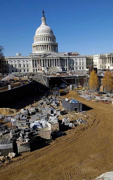 East Front of the U.S. Capitol from the new CVC site still under construction.