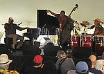 The Randy Weston African Rhythms Trio, performing at the Annual Jazz in the Valley Festival,  in Waryas Park in Poughkeepsie, NY, on Sunday, August 21, 2016. Photo by Jim Peppler. Copyright Jim Peppler 2016 all rights reserved.