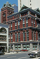 New York City: New York Mercantile Exchange, 1884. 6 Harrison St. NW Corner Hudson St.  Thomas R. Jackson, arch. Converted to offices in 1987. Photo'91.