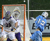 No. 4 ranked Albany defeats no. 9 ranked and defending national champion North Carolina in the first round of the NCAA Tournament on May 13, 2017 at Casey Stadium in Albany, New York.  (Bob Mayberger/Eclipse Sportswire)