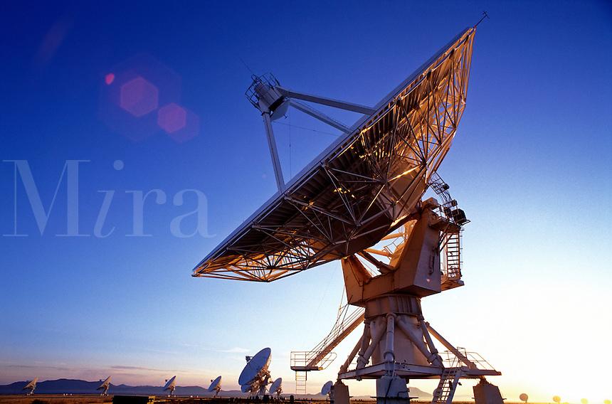 USA, New Mexico, Socorro. Very Large Array (world's largest radio telescope) VLA