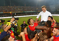 Benevento coach Marco Baroni  celebrates with his players  their promotion to Italian Serie A championship after the victory   in Serie B play-off match played against Carpi FC at Vigorito stadium in Benevento 08 giugno 2017<br /> i calciatori del benevento festeggiano la promozione della squadra in Serie A