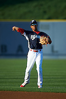 Reading Fightin Phils shortstop J.P. Crawford (2) warms up before a game against the New Britain Rock Cats on August 7, 2015 at FirstEnergy Stadium in Reading, Pennsylvania.  Reading defeated New Britain 4-3 in ten innings.  (Mike Janes/Four Seam Images)