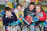 HELPING HAND: Students from  Ballyduff Central National School who are taking part in a Reading Buddies project..L/r. Gerard O'Connor, Katelyn O'Connor, Donal Lynch and Mairead Dowling.   Copyright Kerry's Eye 2008